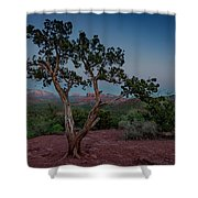Cathedral Rock Overview Shower Curtain by Gary Lengyel