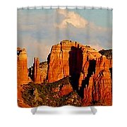 Cathedral Rock Panorama Shower Curtain