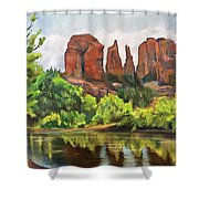 Cathedral Rocks In Crescent Moon Park Shower Curtain