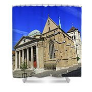 Cathedral Saint-pierre In The Old City, Geneva, Switzerland Shower Curtain