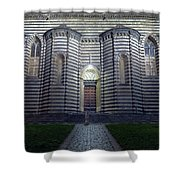Cathedral Side Door Orvieto Italy Shower Curtain