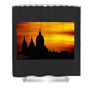 Cathedral Silhouette Sunset Fantasy L A Shower Curtain