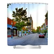 Cathedral Square Gallery On Dauphin Street Mobile Shower Curtain