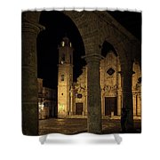 Cathedral Square Havana Cuba Shower Curtain