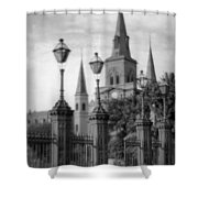 Cathedral Through Gateway Shower Curtain