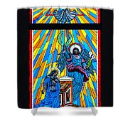 Cathedral Window Shower Curtain