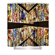 Cathedral Window Montage Shower Curtain