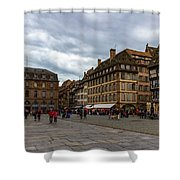 Cathedrale Notre-dame Or Our Lady Place, Strasbourg, France Shower Curtain