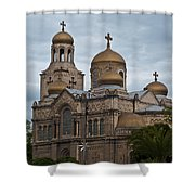 Cathedral,varna,bulgaria Shower Curtain