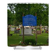 Catholic Cemetery Shower Curtain