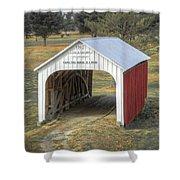 Catlin Covered Bridge  Shower Curtain