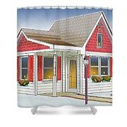 Catonsville Santa House Shower Curtain