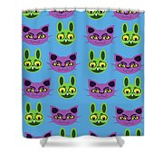 Cats And Rabbits Shower Curtain