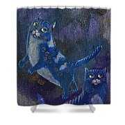 Cats And Reiki Shower Curtain