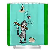 Cats Don't Play Baseball Shower Curtain