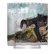 Cats Fighting Shower Curtain