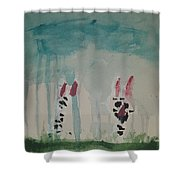 Cats In The Rain Shower Curtain