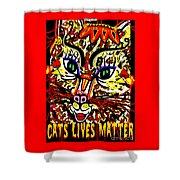 Cats Lives Matter Shower Curtain