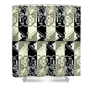 Cats Negative Shower Curtain