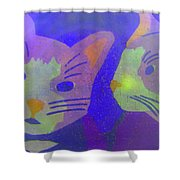 Cats On A Wall Shower Curtain