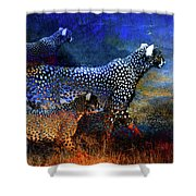 Cats On The Prowl Shower Curtain