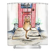 Cat's Welcome Motel Shower Curtain