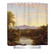 Catskill Creek - New York Shower Curtain by Thomas Cole