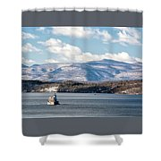 Catskill Mountains With Lighthouse Shower Curtain