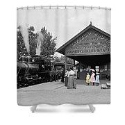 Catskill Railroad Shower Curtain