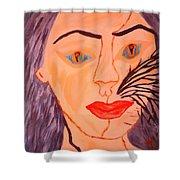 Catt Women Shower Curtain