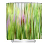 Cattails And Flowers Shower Curtain