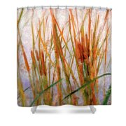 Cattails By The Lake Shower Curtain
