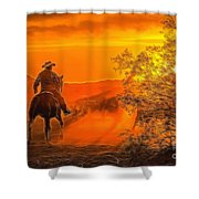Cattle Drive 45 Shower Curtain