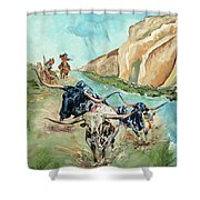 Cattle Drive Shower Curtain