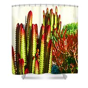 Catus Garden Shower Curtain