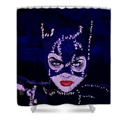 Catwoman Michelle Pfeiffer Burton Shower Curtain