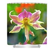 Caucaea Rhodosticta Orchid Shower Curtain