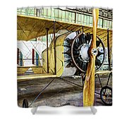 Caudron G3 Propeller And Cockpit - Vintage Shower Curtain