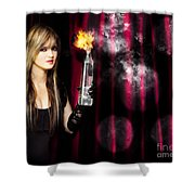 Caught In The Act Of Setting The Stage On Fire Shower Curtain