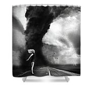 Caught In The Storm Shower Curtain
