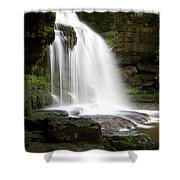 Cauldron Falls, West Burton, North Yorkshire Shower Curtain