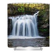 Cauldron Falls,west Burton, North Yorkshire. Shower Curtain