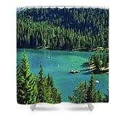 Caumasee Lake Switzerland Shower Curtain