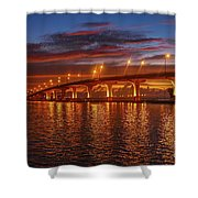 Causeway Sunrise Shower Curtain