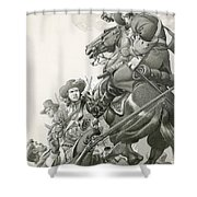 Cavalry Charge Shower Curtain