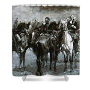 Cavalry In An Arizona Sandstorm 1889 Shower Curtain