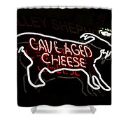 Cave Aged Cheese Shower Curtain