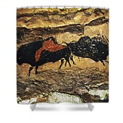 Cave Art: Bison Shower Curtain