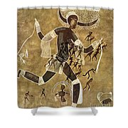 Cave Art Shower Curtain