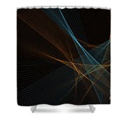 Cave Computer Graphic Line Pattern Shower Curtain